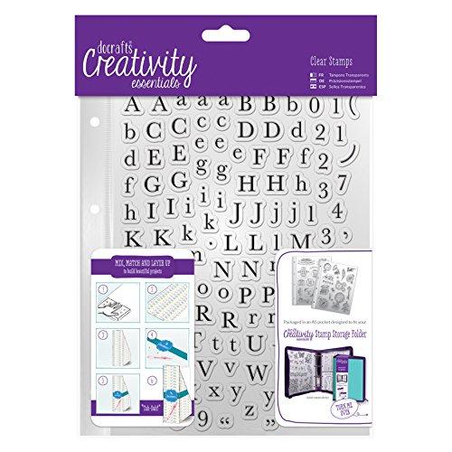 Creativity EssentialsAlphas Traditional Stamp Set A5 129-Piece Clear