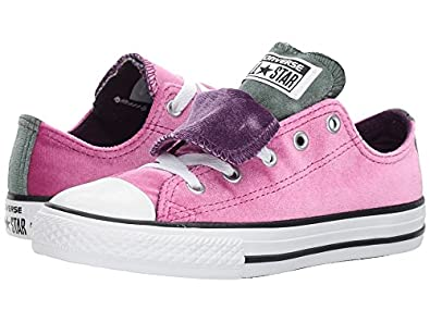 Converse Kids All Star Low K Double Tongue Pink Sapphire Deep Emerald Size  11
