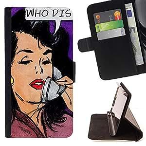 King Case - FOR Samsung Galaxy S6 EDGE - ?Happiness is waiting - Prima caja de la PU billetera de cuero con ranuras para tarjetas, efectivo Compartimiento desmontable y correa para la mu?eca