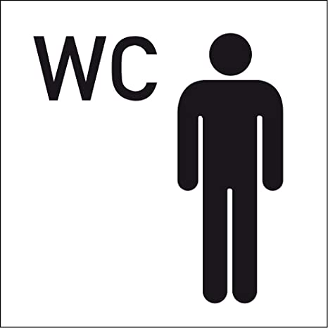 H Toilet Sign Wc Men Symbols Man Self Adhesive Transparent 150