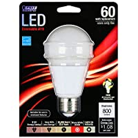 Feit Electric BPOM60/830 LED A19 - 60 Watt Equivalent Warm White (3000K) Dimmable LED Light Bulb