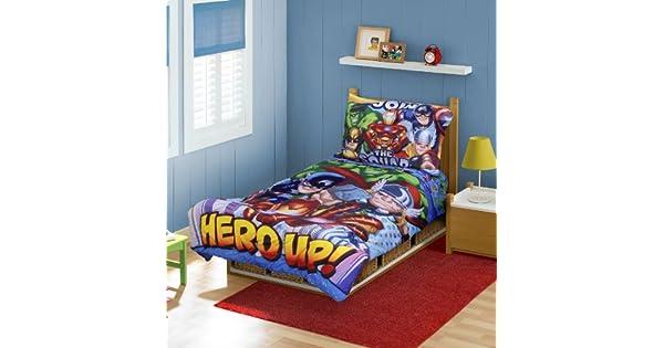 Amazon.com: Marvel Super Hero Squad bebé Bedding 4pc Set ...