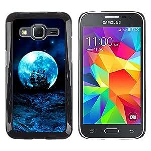 For Samsung Galaxy Core Prime / SM-G360 , S-type® Blue Storm Ocean Ship Sails - Arte & diseño plástico duro Fundas Cover Cubre Hard Case Cover