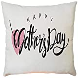 Pillow case Protector with Zipper,EOWEO Happy Mother's Day Sofa Bed Home Decoration Festival Pillow Case Cushion Cover(43cm×43cm,F)