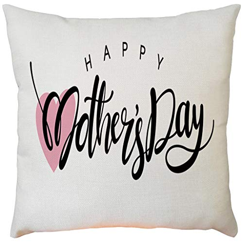 - Pillow case Protector with Zipper,EOWEO Happy Mother's Day Sofa Bed Home Decoration Festival Pillow Case Cushion Cover(43cm×43cm,F)