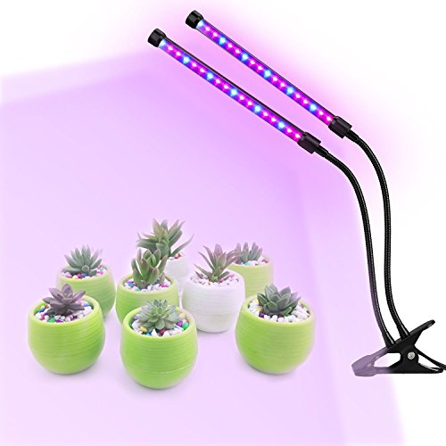 Lovebay Timing Function Dual Head Grow Light 36LED 5 Dimmable Levels Grow Lamp Bulbs with Adjustable 360 Degree Gooseneck for Indoor Plants Hydroponics Greenhouse Gardening [2018 Upgraded] by Lovebay (Image #6)