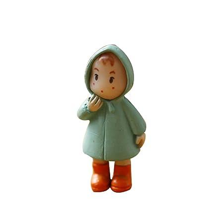 Figurine miniature de petite fille en plastique, décoration ...