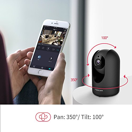 Foscam-Full-HD-1080P-WiFi-IP-Camera-2MP-Indoor-PanTilt-Home-Security-Surveillance-Camera-with-Night-Vision-Two-Way-Audio-MotionSound-Detection-Free-ImageVideo-Cloud-Service-Available-R2C-Black