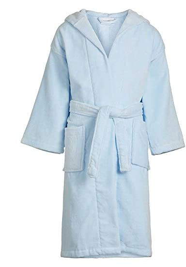 0b0d92f3c2 Amazon.com  LC Boutique Unisex Children s Hooded Spa Bathrobe 100% Cotton  Terry Velour Weave Ages 3 To 11 Years  Clothing