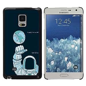 // PHONE CASE GIFT // Duro Estuche protector PC Cáscara Plástico Carcasa Funda Hard Protective Case for Samsung Galaxy Mega 5.8 / Astronauta Espacio /