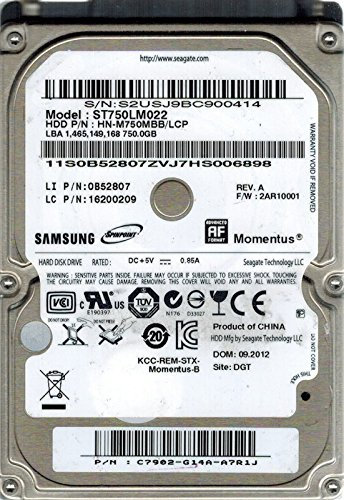 Samsung ST750LM022 HN-M750MBB/LCP P/N: C7902-G14A-A7R1J 750GB Seagate
