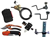 Trail Camera Accessories Pack Saw & Sheers, 6' Camo Python Cable, HME Economy Holder, HME Quick Mount, T-Post Holder, SD/Micro SD Reader iOS/Android/USB, Waterproof Memory Case Game Camera Accessories