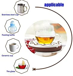 E-Bro New Portable Cookie USB Electronic Warmer Coffee Milk Tea Cup Heating Pad Plate (Coffee)