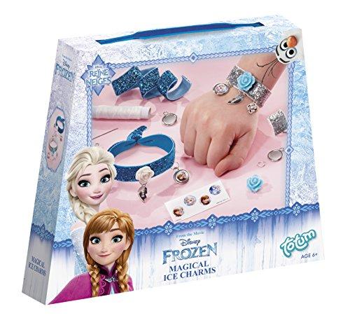 Disney Frozen Die Eiskönigin Bastel-Set Glitter-Armbänder für Mädchen (Kreativ-Set für 2 glitzernde Armbänder)