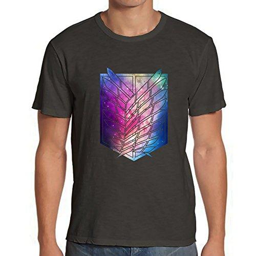 - Attack On Titan Nebula Galaxy Tshirt Mens Tshirt - Charcoal 3XL RF