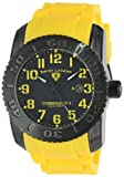 """Swiss Legend Men's 10068-BB-01-YLSA-SET """"Commander"""" Black Ion-Plated Stainless Steel, Yellow Silicone, and Black Dial Watch Set, Watch Central"""