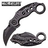 karambit black blade - TAC FORCE Spring Assisted Karambit Pocket Knives BLACK Blade Tactical