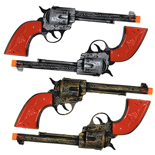 Western Toy Cowboy Revolver - 4 Pack