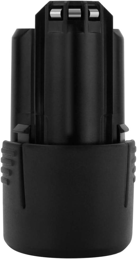 Exmate Batería de repuesto Li-ion 10.8V 2500mAh para Bosch 2607336013 2607336014 BAT411 BAT411A BAT412A