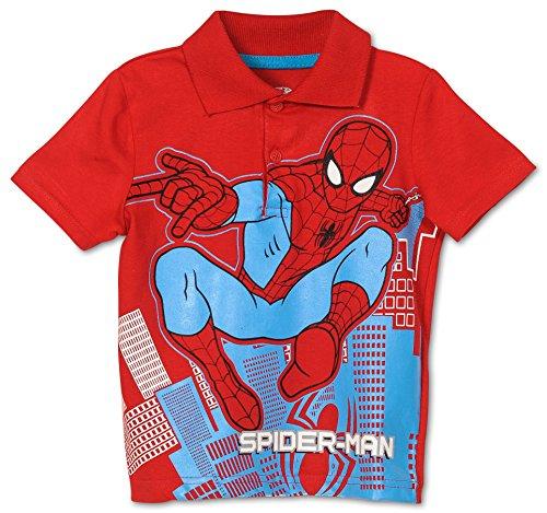Toddler Boys' Spiderman Polo Shirt (3T)