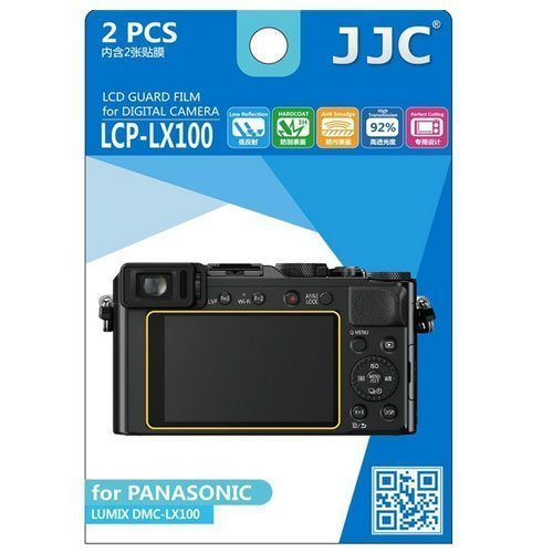 Polycarbonate Lcd - JJC LCP-LX100 Ultra Hard Polycarbonate LCD Film Screen Protector for Panasonic (Clear)