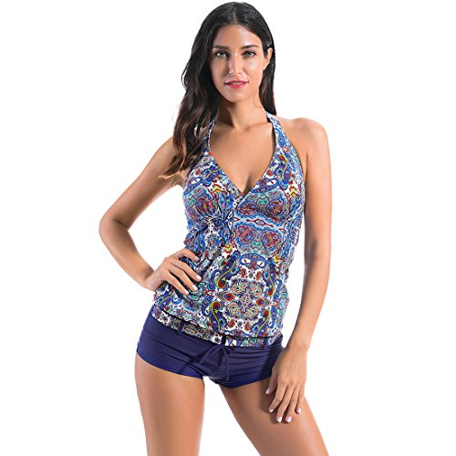faerdasi Womens Halter Tankini Swimsuit product image