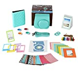 Fujifilm Instax Mini 9 or Mini 8 Instant film Camera Accessories Bundle. MINT 11 Piece Gift Box Fuji accessories Kit Includes: Case + Strap, Fujifilm Albums, Filters, Selfie Lens, 60 Stickers & More