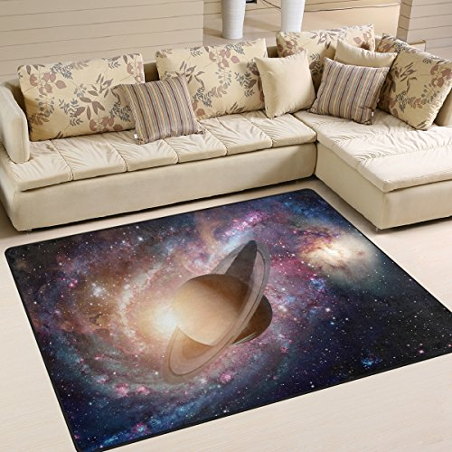 ALAZA Space Universe Solar System Planet Area Rug Rugs for Living Room Bedroom 7' x 5' by ALAZA