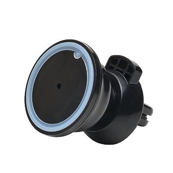 AGPTEK PS02 Soporte Movíl Universal de aspiración 360°para Rejillas de Ventilación de Coche Compatible con Moviles Android y iPhone, Color Negro