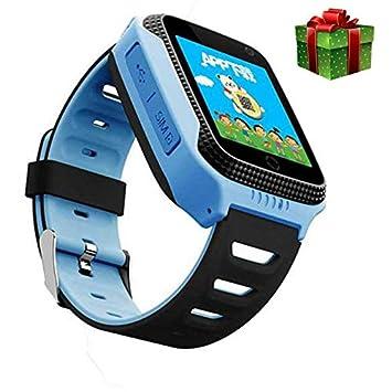 WDXDP Pulsera Inteligente Q528 GPS Kids Reloj Inteligente con ...