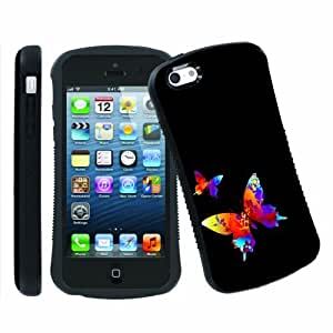 [ArmorXtreme] Apple iphone 5C Ultra Shock Absorbent Tough Designer Case [Two Butterflies]