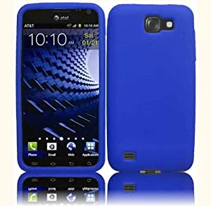Blue Silicone Jelly Skin Case Cover for Samsung Galaxy S II 2 Skyrocket HD i757