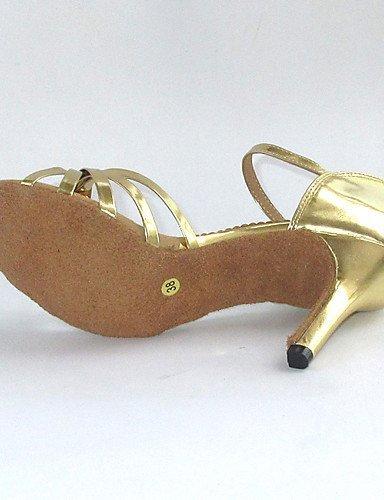 Argent de nbsp;– Chaussures nbsp;Femme Paragraphe Salsa nbsp;– nbsp;Cuir Dimensions synthétique danse shangyi gefertigter nbsp;– Standard nbsp;Latin Argenté qvaYaP