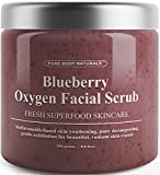 Blueberry Oxygen Facial Scrub - Loaded with Antioxidants for Facial Rejuvenation - Best Facial Scrub and Exfoliator for Skin Renewal and Anti-Aging - Expert Blend with Organic Ingredients