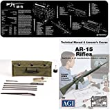 American Gunsmithing Institute DVD Gunsmith & Armorer's Course AR15 AR-15 AR 15 M4 M16 Rifle + Ultimate Arms Gear Gunsmith & Armorer's Cleaning Bench Gun Mat + Deluxe .223 5.56 AR15 M-16 Rifle Cleaning Kit