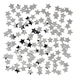 Silver Star Confetti Table Decoration 14g- Fabulous Silver Star wedding party table confetti--Ideal for Birthdays, Boy's and Girl's, Parties, Special Occassion - Scatter on party tables or put inside cards…