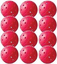 Franklin Sports X-40 Pickleballs - Outdoor Pickleballs - 12 Pack Bulk - USAPA Approved - Pink