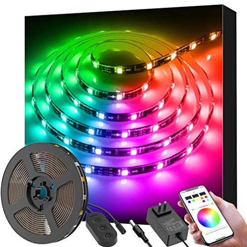 Tv Party Halloween (LED Strip Lights Dreamcolor, Govee APP Control 9.8ft Color Changing Light Strips, Bluetooth with Music Sync Multicolor LED Lights DIY for Room, Kitchen, Home, Party, Halloween, Christmas,)