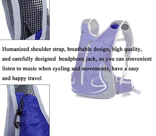 Cuckoo 18L Unisex Radfahren Radfahren Rucksack Nylon Ultra Leichtes Outdoor Reisen Trekking Rucksäcke Wandern Daypack blau