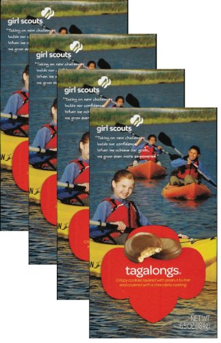 (Girl Scout Tagalongs or Peanut Butter Patties  (4 Boxes))