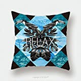 Custom Satin Pillowcase Protector Relax Slogan Summer Illustrator Art Vector Watercolor Toucan Graphic Leaves And Blue Sea Mirror 283510835 Pillow Case Covers Decorative