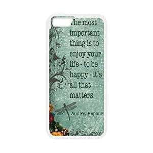 "Audrey Hepburn Quotes DIY Cover Case for Iphone6 Plus 5.5"",personalized phone case ygtg-781712 hjbrhga1544"