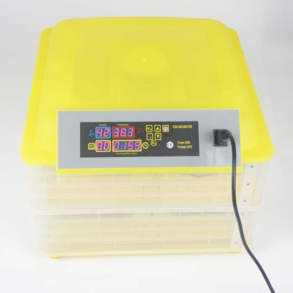 110V Egg Incubator Hatcher Digital Auto-Turning 48~96 Eggs (112 Eggs) TECHTONGDA