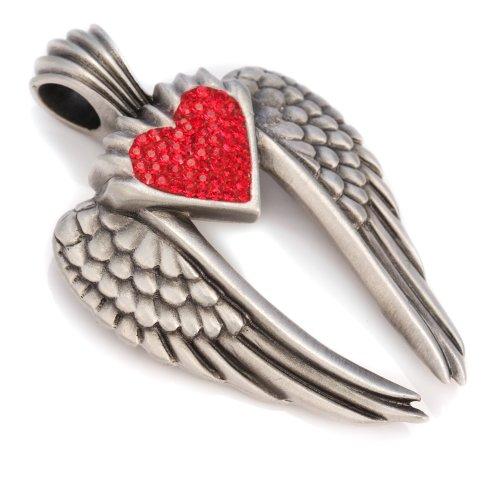 Bico Wings Of Uriel Pave Pendant (PV7 Red) - love is my destiny you are my fate - Swarovski Crystal ()
