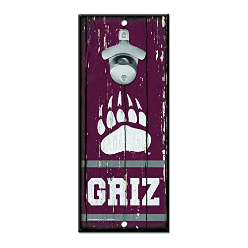 "WinCraft NCAA Montana Grizzlies Wood Bottle Opener Sign, 5"" x 11"", Multicolor"