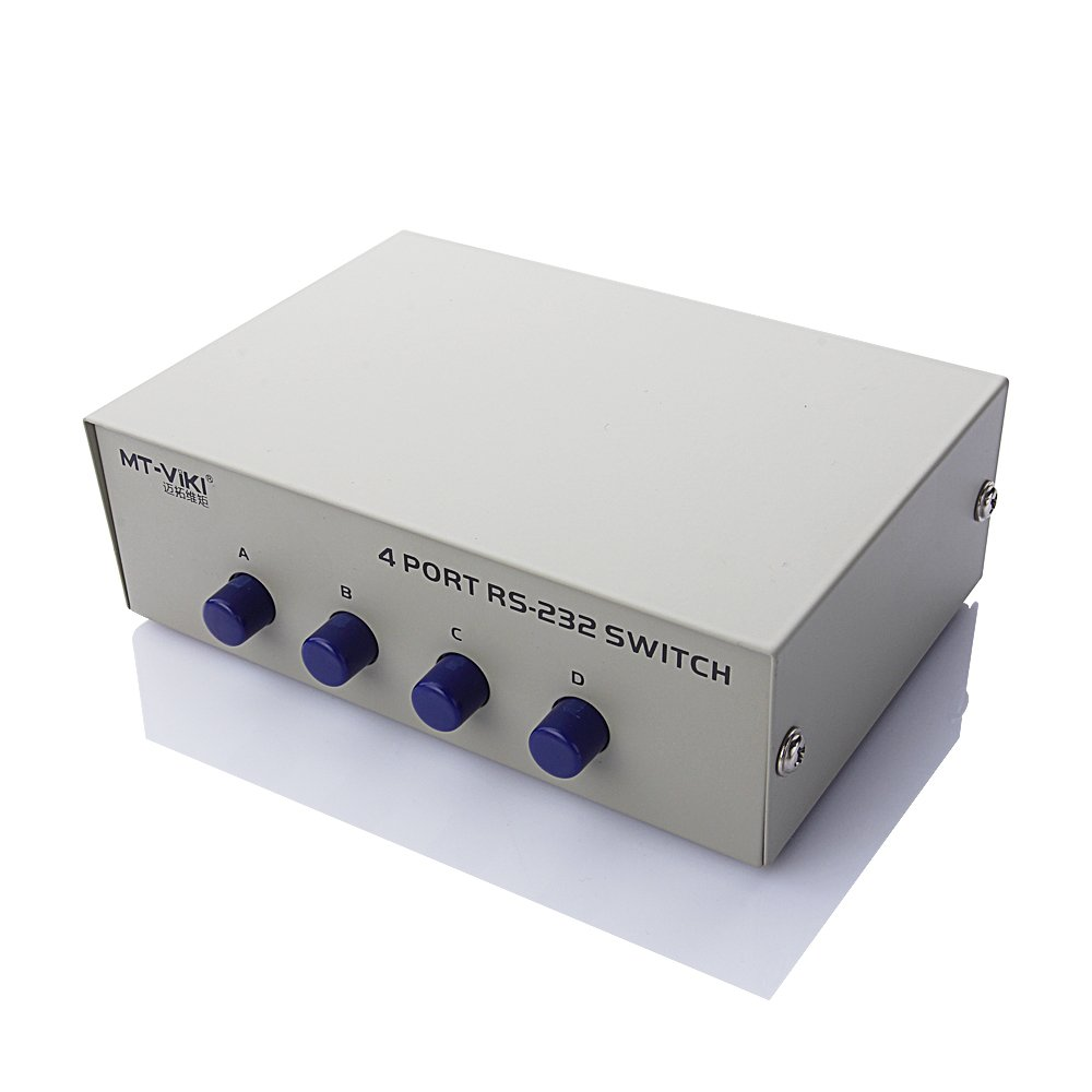 Century Accessory DB 9 Pin Male Female Connectors Serial Network Sharing 4 Port RS232 Switch