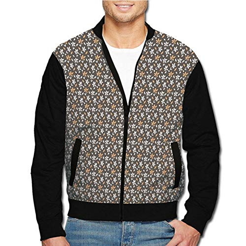 iPrint Men's Casual Long Sleeve Full Zip Fashion Jacket Multicolor Customized Style ()
