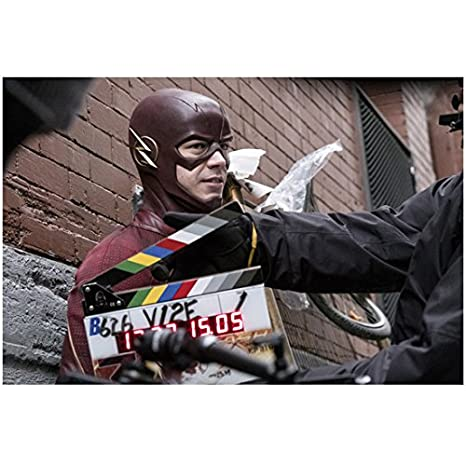 The Flash Grant Gustin behind the scenes 8 x 10 Inch Photo