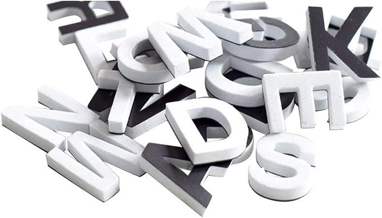 Amazon.com: Lzttyee - Juego de 120 letras magnéticas de EVA ...
