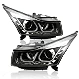 Win Power High Beam LED Daul-U DRL Projector HID Headlight for 2009-2014 Chevrolet Cruze
